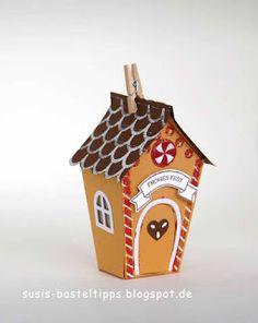 """Pfefferkuchenhaus mit Stampin' Up! Stanzenset """"Ein Haus für alle Fälle"""""""