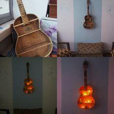 #kendinyap #evaksesuar #gitar  Eski gitara yeni bir hayat
