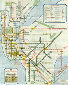 New York Subway Map, 1966
