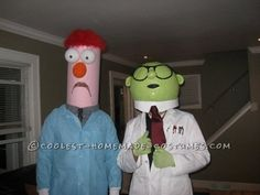 My friend and I randomly decided to do thisGreat Muppets Honeydew Bunsen and Beaker Couple Costume one year for Halloween. We wanted something funny...