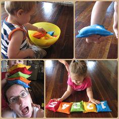 New party games toddler bean bags 17 ideas Indoor Activities, Craft Activities For Kids, Toddler Activities, Kid Crafts, Kids Party Games, Games For Kids, Fun Games, Toddler Fun, Toddler Learning
