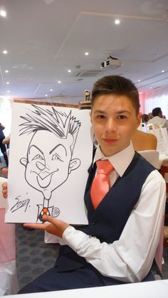 Live caricature drawn at a wedding at Needham House in Hertfordshire Caricature From Photo, Caricature Drawing, Kent London, London Wedding, Pen And Paper, Trade Show, Caricatures, Corporate Events, First Love