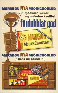 100 år,  historiska bilder, marabou , Choklad