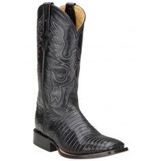 Ferrini Ladies Black Teju Lizard Boots S-Toe 81193-04