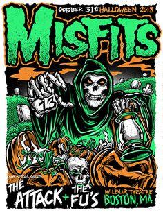 Misfits Concert Poster Art