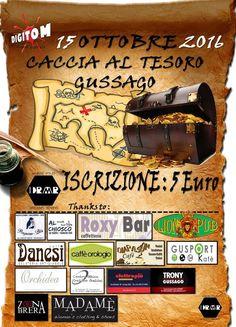 """Sabato 15 ottobre """"Caccia al tesoro"""" serale - http://www.gussagonews.it/caccia-tesoro-ottobre-2016/"""