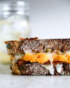 Leftover Sweet Potato Casserole, Brie and Bacon Grilled Cheese I howsweeteats.com