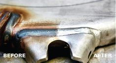 Perfect #stainless #weld #cleaning with #Cougartron   Check us out on:  http://www.cougartron.com/