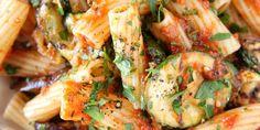 Best Grilled Vegetable Rigatoni Recipe - Delish.com Eggplant Zucchini