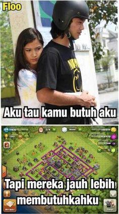 Meme Comic Clash Of Clans Indonesia Lucu Meme Comics, Life Humor, Man Humor, Bts Jimin, Funny Birthday Jokes, Dark Jokes, Pregnancy Humor, Facebook Humor, Work Memes