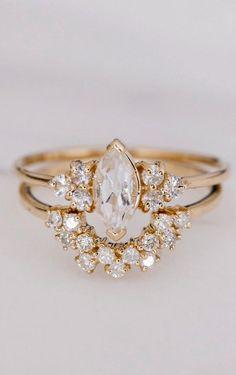 Modern wedding diamond ring & band http://www.fashiondivaly.com/w4w