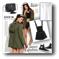"""""""SheIn"""" by snezanamilunovic ❤ liked on Polyvore featuring Converse"""