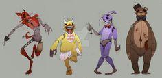 Five Nights at Freddy's by Ashlmet.deviantart.com on @DeviantArt