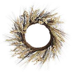 Wheat/Berry/Bunnytail Wreath $29.99 Pier One