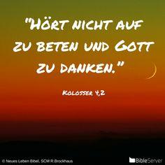 Nachzulesen auf BibleServer | Kolosser 4,2