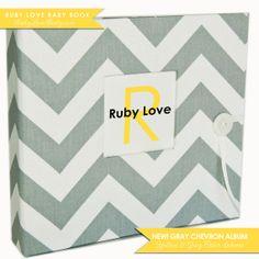 Gray Chevron Stripe Album . Ruby Love Modern by rubylovedesigns, $60.00