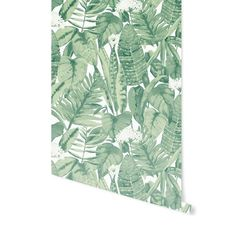 """Welcome to the jungle... (You know you're singing it, too.) Details + Dimensions: 20.5"""" w x 33' l Approximately 56 square feet Each order includes one double roll Tropical repeat is 24"""" Self-adhesive + removable Lead, phthalate and VOC-free Wallpaper should be applied to surfaces that are in good condition + that have been painted with eggshell, satin or semi-gloss paint Not recommended for application on matte/flat paint or textured surfaces Wipe clean with a damp cl..."""