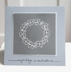 Blütenstempel: Trauerkarte aus dem rosaroten Kit