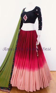 choli-Raas The Global Desi-[chaniya_choli]-[chaniya_choli_for_garba]-[chaniyacholi]-[chaniyacholi]-[chaniya_choli_online_usa]-Raas The Global Desi Indian Gowns Dresses, Indian Fashion Dresses, Indian Designer Outfits, Pakistani Dresses, Bridal Dresses, Choli Designs, Lehenga Designs, Lengha Design, Blouse Designs