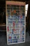 Soda can solar heater, version 2.  Need to do this for my garage. :)