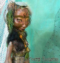 Sculpture figurative, personnage imaginaire, vert, gwendoline : Sculptures, gravures, statues par courtil-fantasque