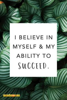 Make this affirmation part of your daily ritual