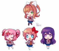 Some Pictures, My Photos, Doki, Literature Club, Cute Chibi, Matching Icons, Cute Drawings, Akira, Sailor Moon