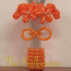 Balloon flowers - Orange crush