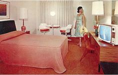 Vintage motel postcards from the 1950's and 60's