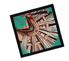 Hermes scarf 140: Cuirs du Désert II