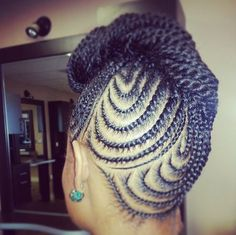 Lovely Braided Updo - http://community.blackhairinformation.com/hairstyle-gallery/updos/lovely-braided-updo/