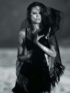 'And God Created Gaultier' Catherine McNeil by Gilles Bensimon for Vogue Australia October 2014 [Editorial] - Fashion Copious Catherine Mcneil, Vogue Australia, Amy Winehouse, Beauty Photography, Fashion Photography, White Photography, Urban Photography, Under The Veil, Races Fashion