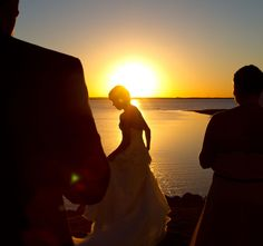 Lighthouse wedding at Sunset in Oklahoma City.