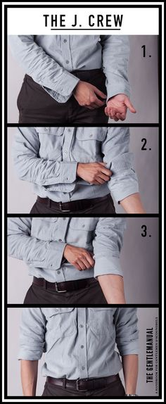 The J. Crew, ways to roll your sleeves
