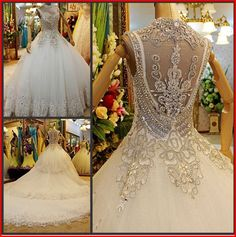 Item Type: Wedding Dresses Silhouette: Mermaid Wedding Dress Fabric: Tulle/Netting Back Design: Lace Up Waistline: Natural occasion: hotel indoor design three-dimensional cut: clipping Wedding dress style: others collar type  The epitome of sheer romance, this elegant beautiful g...