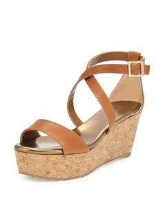 bc582dfba3f4 Jimmy Choo Portia Cork Wedge Sandals