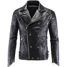 German Designer Skull Rivet Studded Punk Rock Leather Jackets Men Motorcycle Black Leather Biker Jacket Male Plus Size 4XL 5XL http://thegayco.com/products/german-designer-skull-rivet-studded-punk-rock-leather-jackets-men-motorcycle-black-leather-biker-jacket-male-plus-size-4xl-5xl