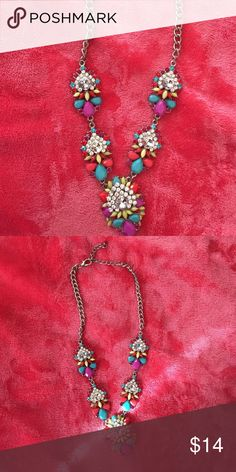 Statement necklace Multi colored jeweled necklace from Francesca's collections Francesca's Collections Jewelry Necklaces