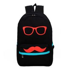 Cool Book Bags | Mens Womens Colorful Funny Face Backpack Cool ...