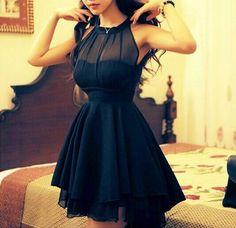 Slim sleeveless chiffon dress AX080303AX