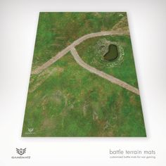 This grassy field gaming terrain mat is perfect for Warhammer, Warhammer 40K & Flames of War.