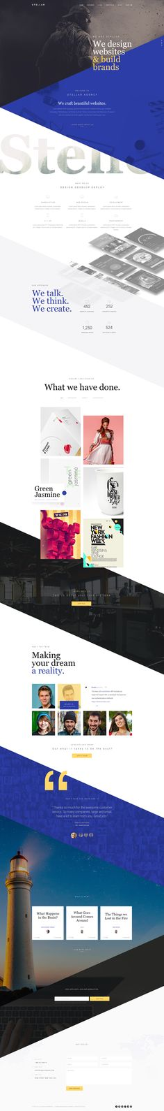Stellar is a Premium One page template best suitable for Design agencies, freelancers, photographers, personal portfolios etc. The template comes with 3 Home Page designs with blog pages. Pag...