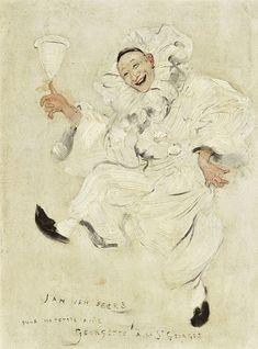 Jan van Beers (Belgian, 1852-1927) Pierrot.