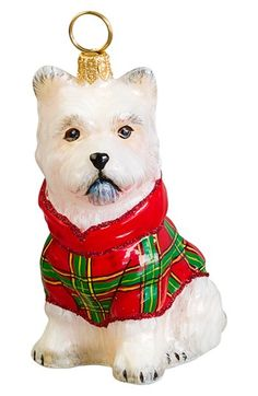 Joy to the World Collectibles Westie in Plaid Ornament available at #Nordstrom