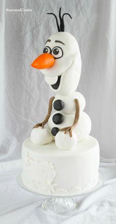 Tarta de Olaf. Olaf Cake. #Frozen