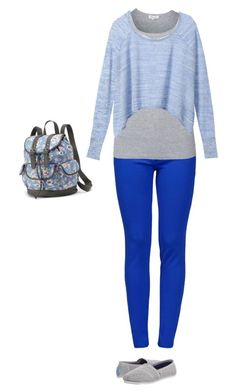 """""""Casual"""" by hjpnosser ❤ liked on Polyvore featuring Boutique Moschino, Splendid, Victoria's Secret, TOMS and Candie's"""