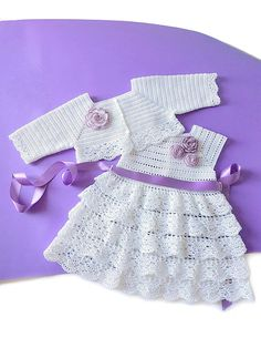 Crochet Baby Dress + Crochet Baby Shrug cotton made in Italy SIZES: Crochet Baby Dress months:Articoli simili a Crochet Baby Outfit, Crochet Christening Set su Etsy Crochet Baby Shrug, Crochet Toddler Dress, Girls Knitted Dress, Crochet Dress Girl, Baby Girl Crochet, Crochet Baby Clothes, Newborn Crochet, Crochet For Kids, Boy Crochet Patterns