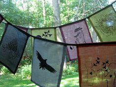 prayer flags make in January each one representing wishes/ prayers/ goals for the coming year