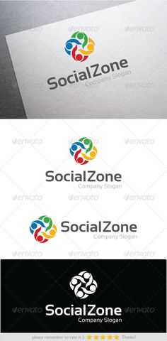 Social Zone Logo Design Template Vector #logotype Download it here: http://graphicriver.net/item/social-zone/7342209?s_rank=563?ref=nexion