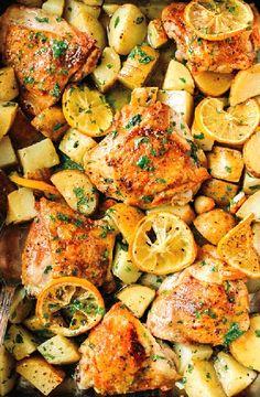 Low FODMAP Recipe and Gluten Free Recipe - Lemon roast chicken with vegetables http://www.ibs-health.com/low_fodmap_lemon_roast_chicken_vegetables.html